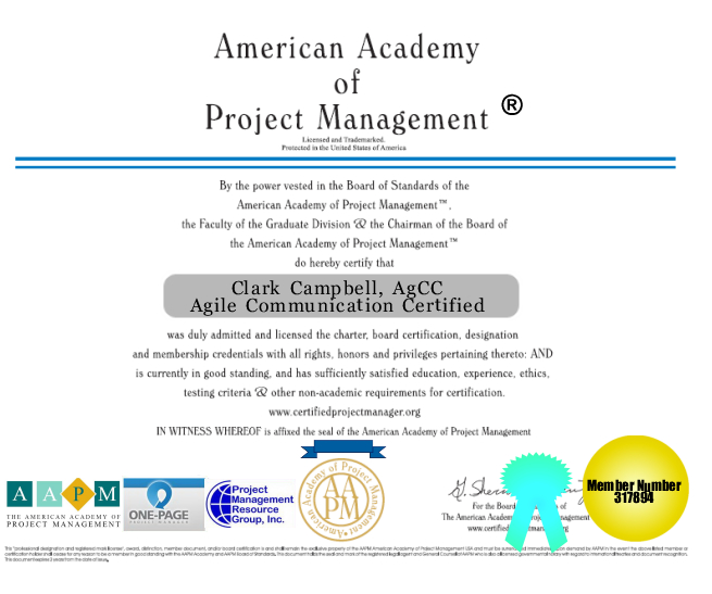 Agile Communications Certification Project Management AGCC CIPM ...